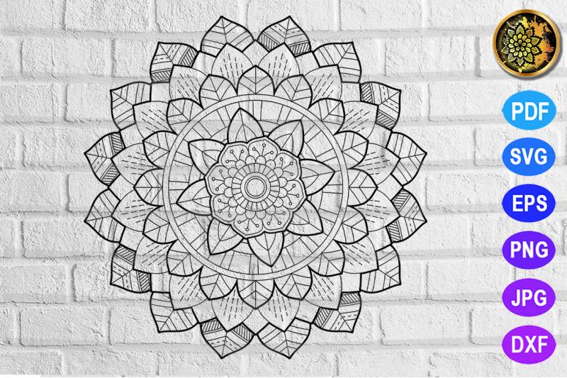 Mandala Zentangle Pattern 2 18 By Mandala Creator Thehungryjpeg Com