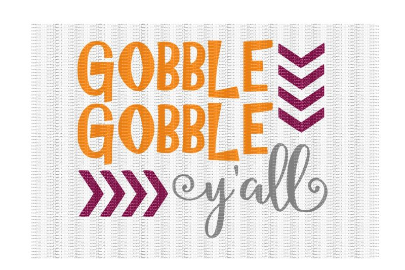 Free Gobble Gobble Y All Cutting File Crafter File Free Download Svg Flat Color Icon Pack