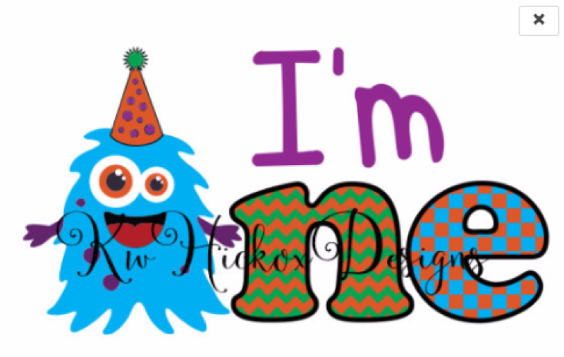 Monster Birthday Svg 1st Birthday Svg Dxf File By Kerry Hickox