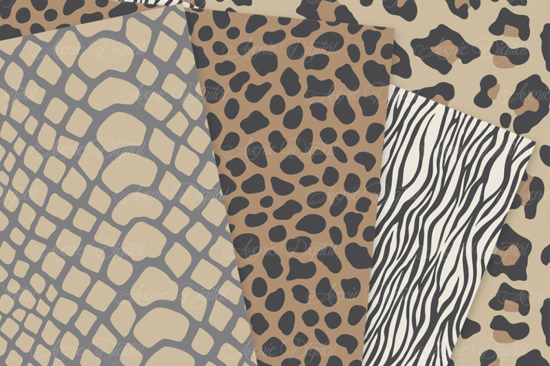 Nautral Safari Digital Paper - Animal Print Vector Ptterns By ... b0d61de2c