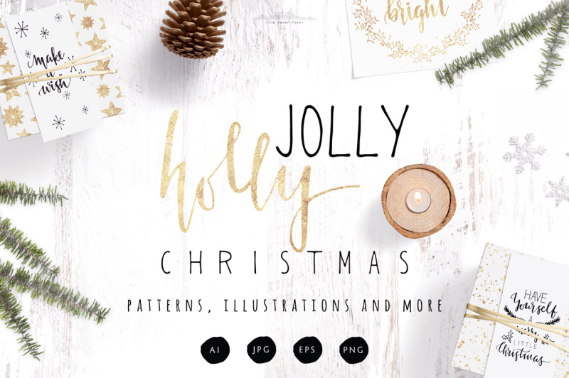 Holly Jolly Christmas Pack By The Paper Town Thehungryjpeg Com