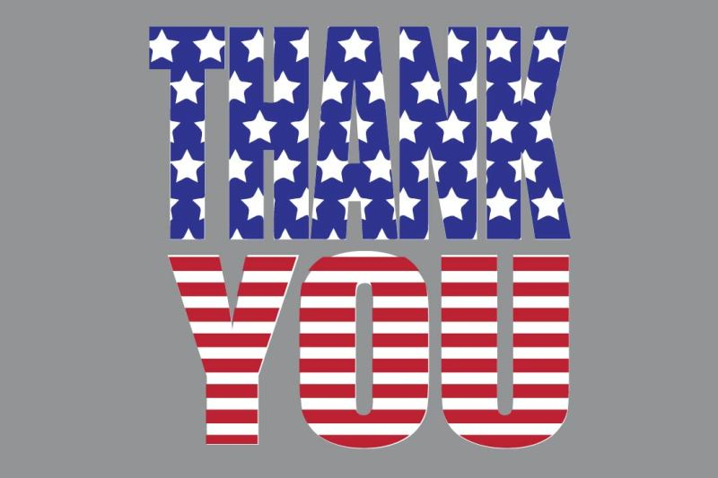 Download Free All American Thank You Svg Crafter File