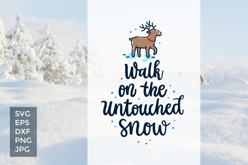Free Untouched Snow, vector cut files Crafter File - All SVG