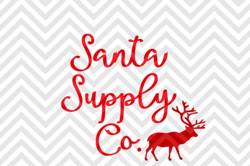 Santa Supply Co Christmas Reindeer Svg And Dxf Cut File Png