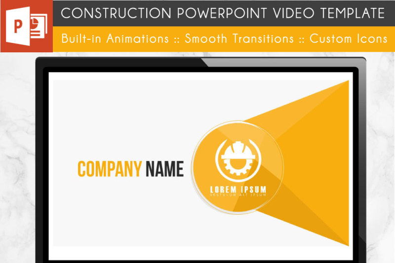 Construction Powerpoint Template By The Lux Adventurer