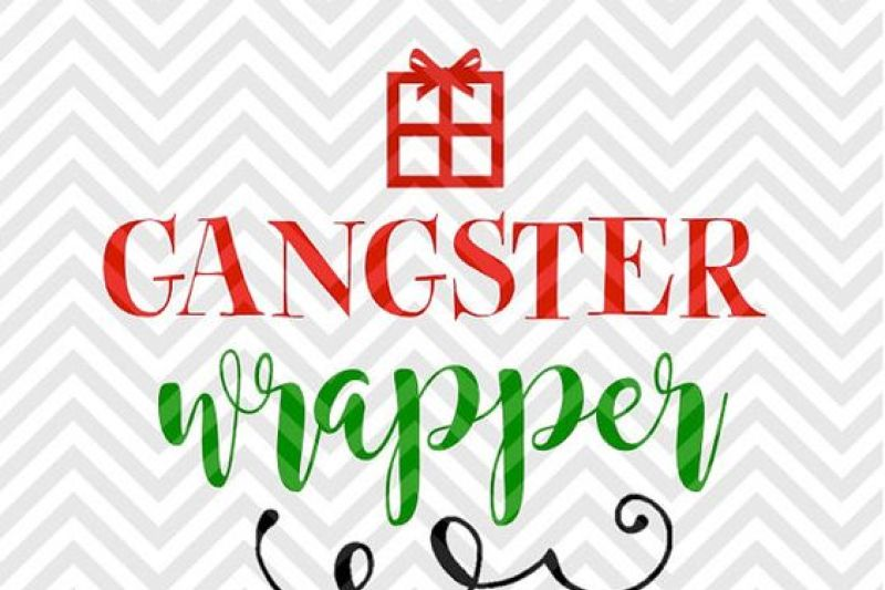 Gangster Wrapper Present Christmas Svg And Dxf Cut File Png