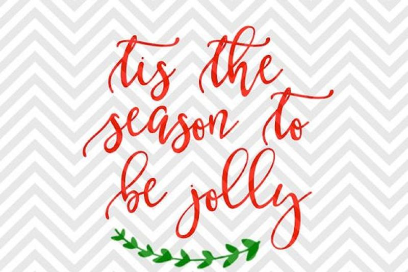 Tis The Season To Be Jolly Christmas Wreath Svg And Dxf Cut File