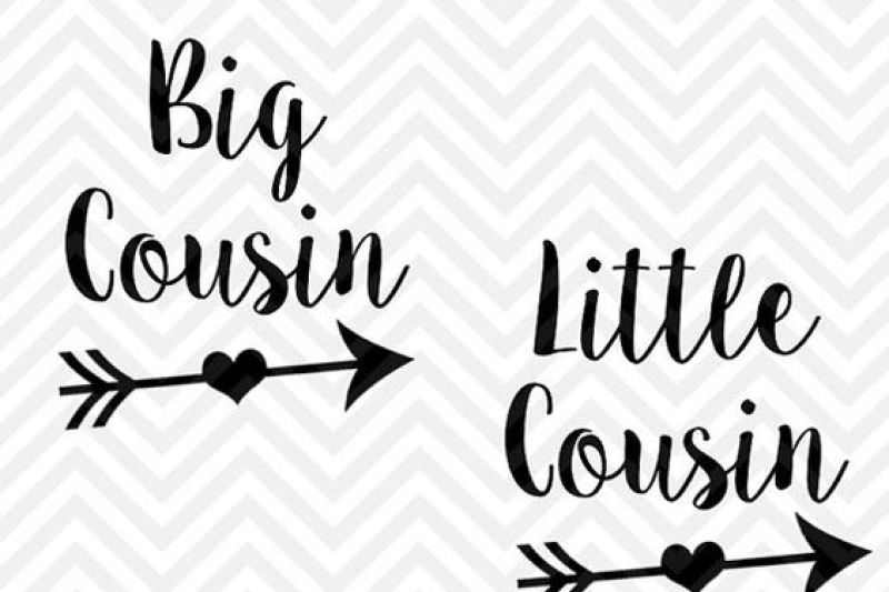 Big Cousin Little Cousin Svg And Dxf Cut File Png Download