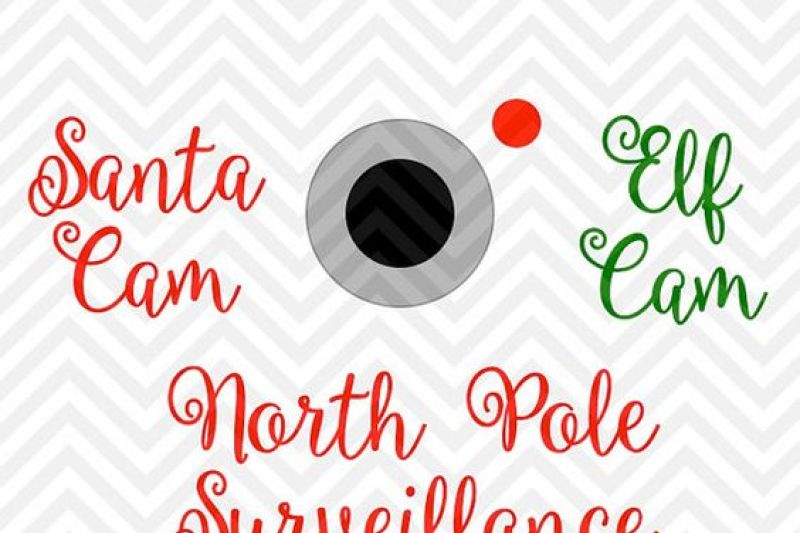 Santa Cam Elf Cam Christmas Tree Ornament Svg And Dxf Cut File