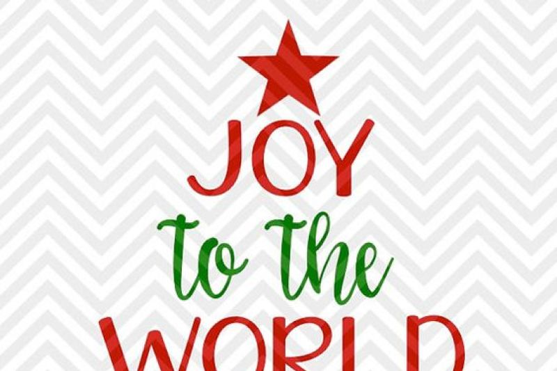 Joy to the World Christmas Tree SVG and DXF Cut File • Png ...
