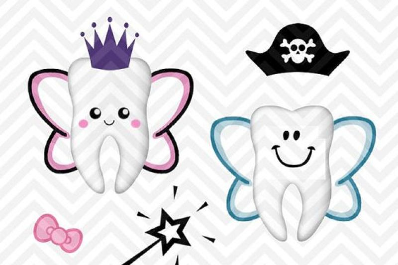Tooth Fairy Bag Kit Boy Girl Cute Svg And Dxf Cut File Png