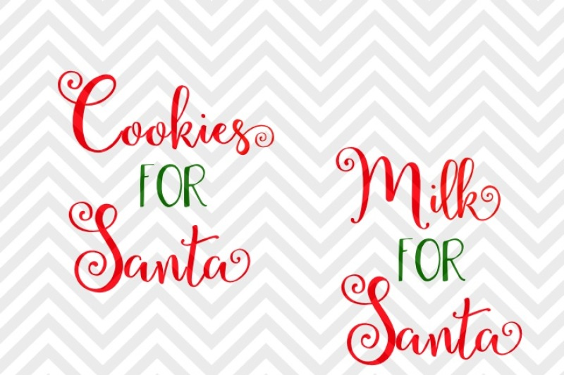 Milk For Santa Cookies For Santa Christmas By Kristin Amanda
