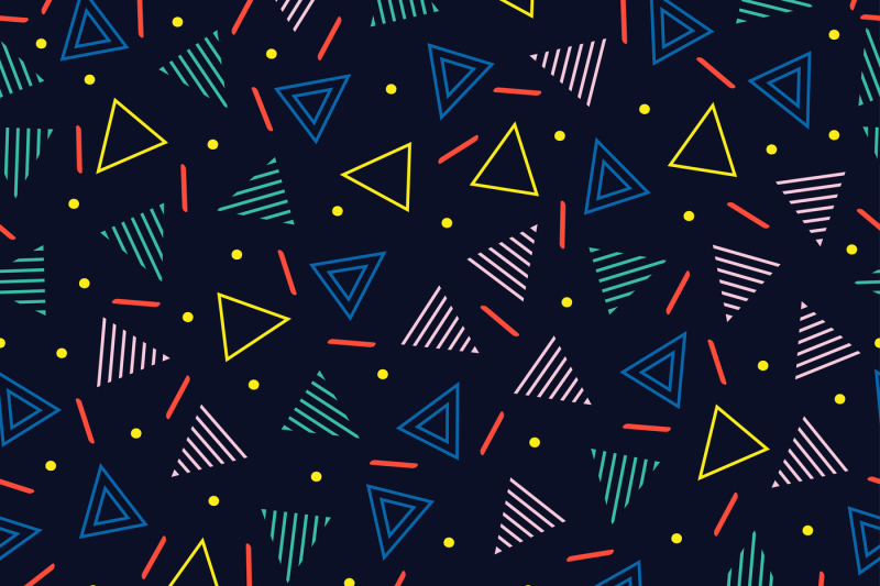 Memphis Geometric Pattern By Krolja | TheHungryJPEG com