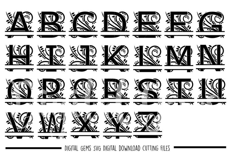Free Regal Split Alphabet Svg Dxf Eps Png Files Crafter File Download All Free Svg Files Cut