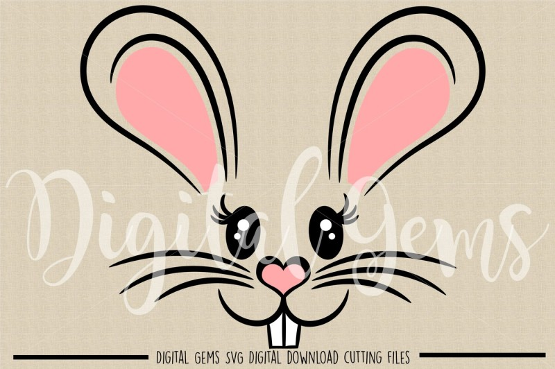 Free Easter Bunny Rabbit Face Svg Dxf Eps Png Files Crafter File 5846 Best Free Svg Cut Files Images In 2019