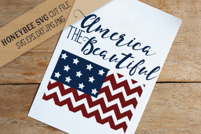 Download Free America The Beautiful Chevron Flag Crafter File