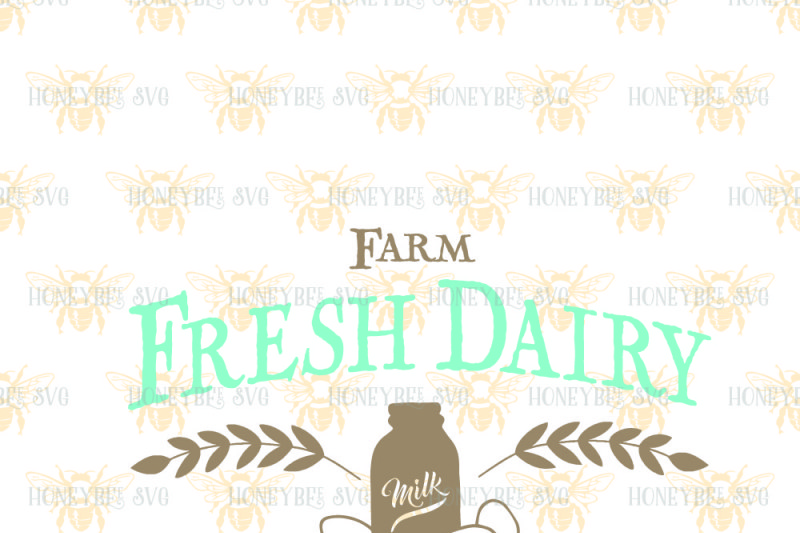 Farm Fresh Dairy By Honeybee Svg Thehungryjpeg Com