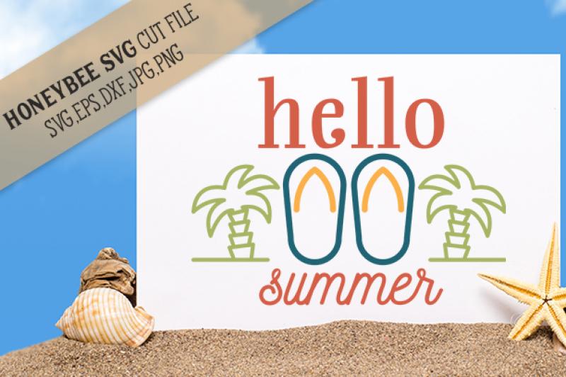Hello Summer Design Svg Files Download