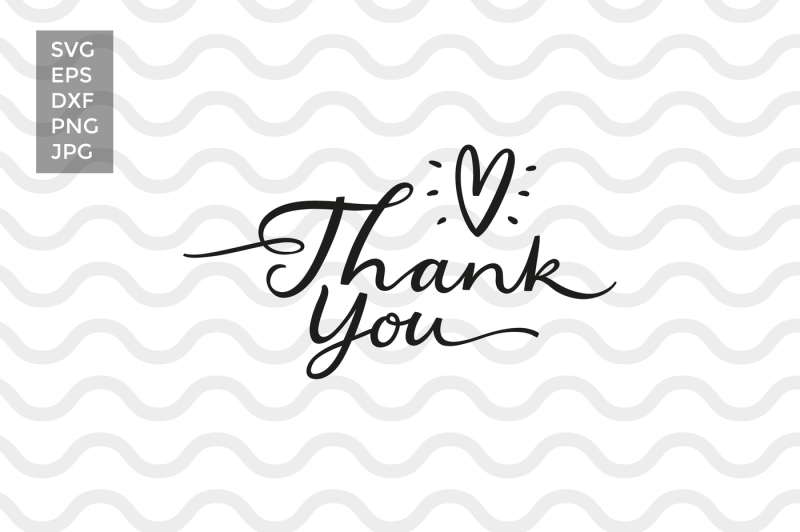 Free Thank you, vector cut files Crafter File - Free