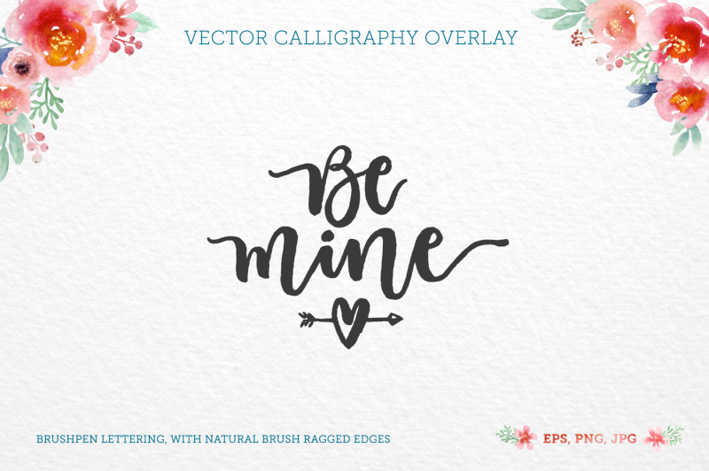Be Mine Vector Quote By Zira Zulu Thehungryjpeg Com