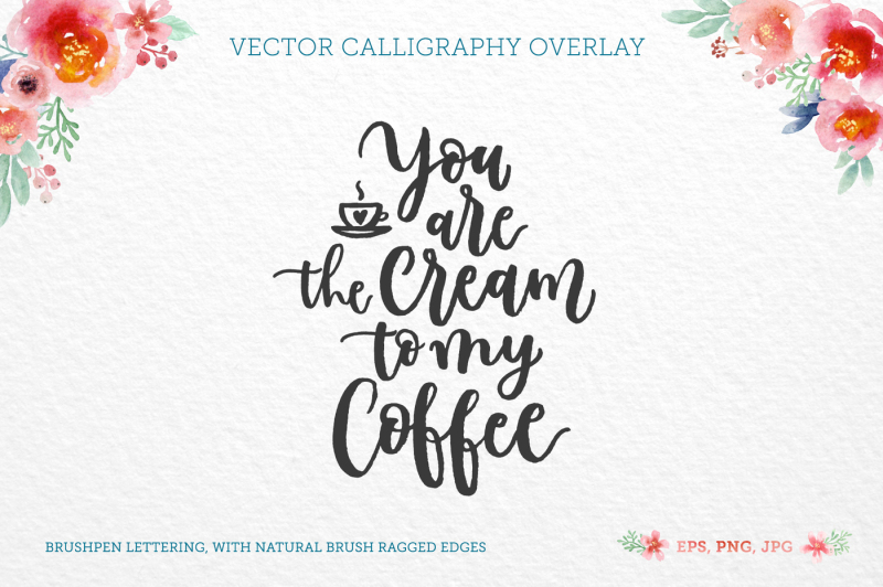 Coffee Cream Vector Quote By Zira Zulu Thehungryjpeg Com