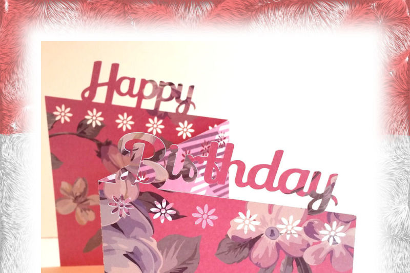 Birthday Card Cutting File Happy Birthday In Jpg Png Svg Eps Dxf