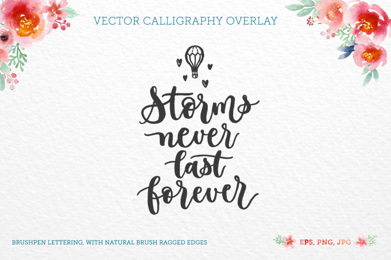 Storms Vector Quote By Zira Zulu Thehungryjpeg Com