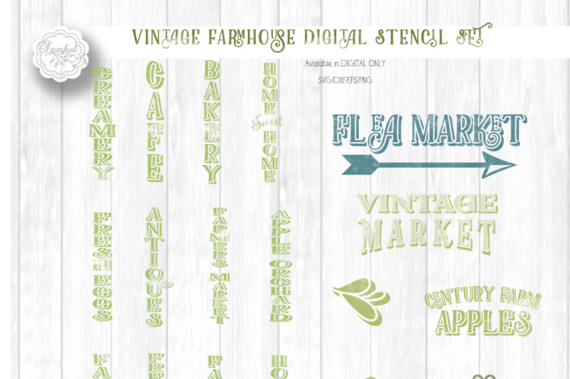 Bundle Of Vintage Country Farm Designs For Wood Sign Stenciling Cutting Files In Svg Dxf Eps Png By Sparkal Designs Thehungryjpeg Com