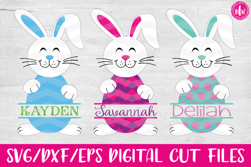 Free Split Easter Bunny Egg Svg Dxf Eps Cut File Crafter File 3d Svg Cut Files For Cricut Silhouette And More
