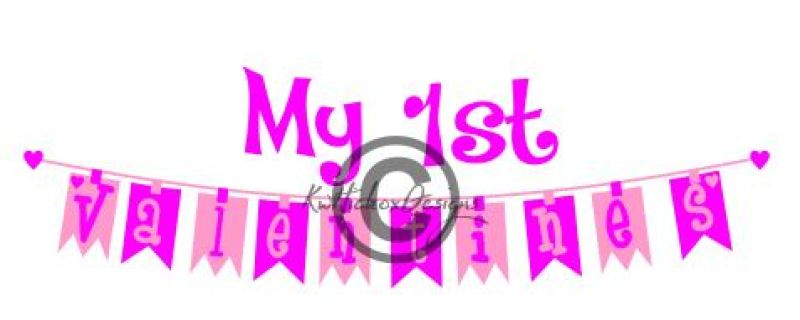 First Birthday Banner Bunting Svg Dxf By Kerry Hickox
