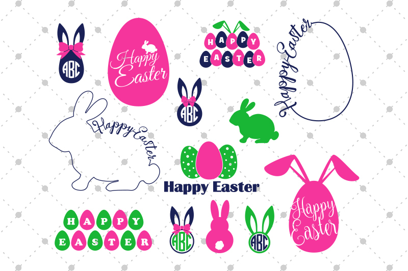 Easter Svg Files Easter Bundle Svg By Svg Cut Studio Thehungryjpeg Com