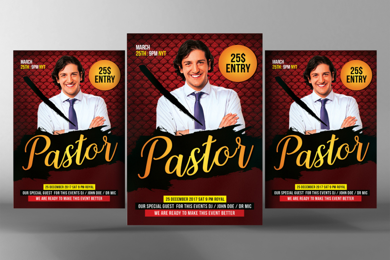 Pastor Appreciation Flyer Template