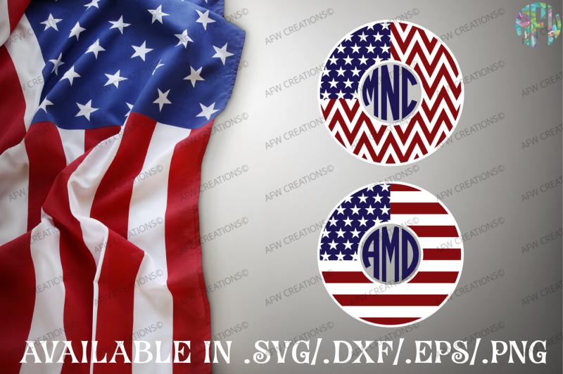 Download Free American Patriotic Monogram Frames Svg Dxf Eps Digital Cut Files Crafter File
