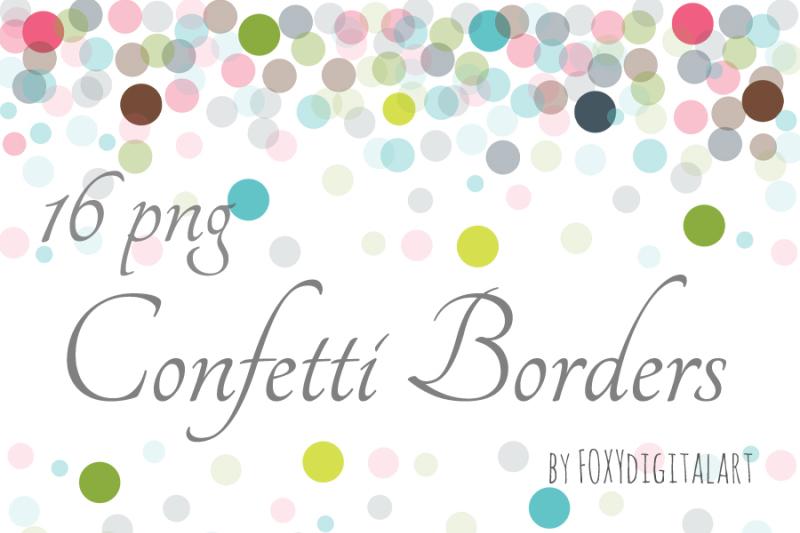 Free Confetti Clipart Confetti Borders Crafter File - SVG Cut Files