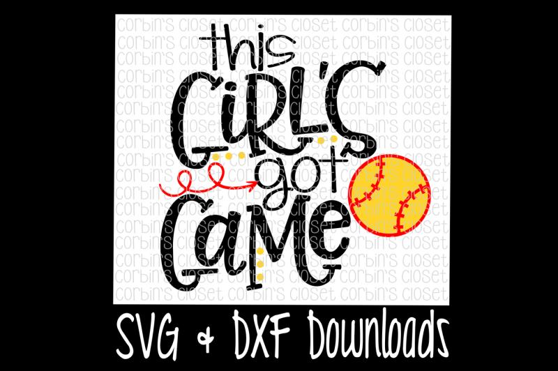 Free Softball SVG * This Girl's Got Game SVG - Free Disney