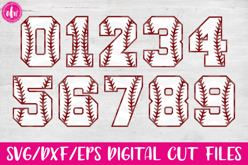 Free Baseball Softball Sports Numbers Svg Dxf Eps Cut Files Crafter File New Free Svg Files Cut Silhoeutte