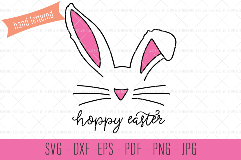 Free Hoppy Easter Svg Bunny Ears Svg Crafter File Svg Cut Files