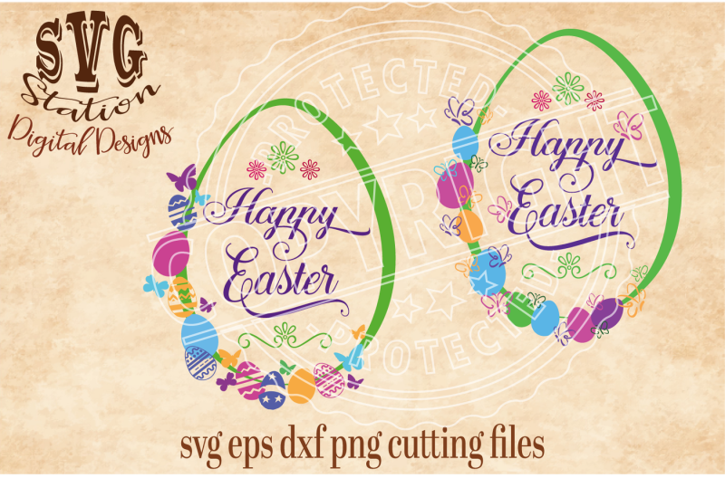 Free Happy Easter Eggs With Butterflies Svg Dxf Png Eps Cutting File Silhouette Cricut Crafter File Free Svg Jpeg Design Files For Cricut Cameo