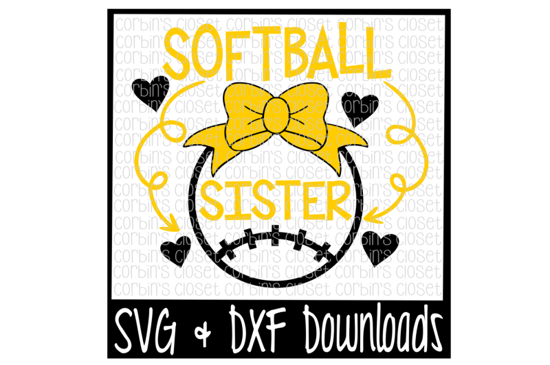 Download Free Softball Sister Svg Softball Sister Cut File Crafter File