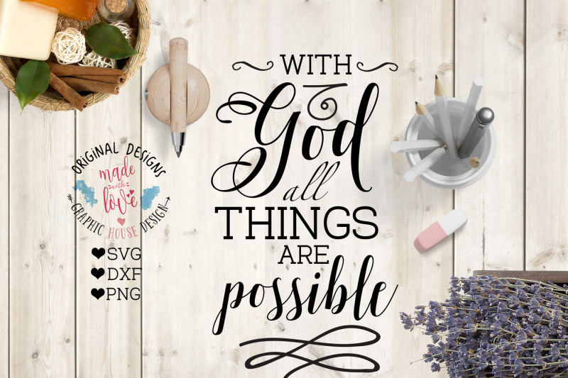 Download Free With God All Things Are Possible Cutting File Crafter File