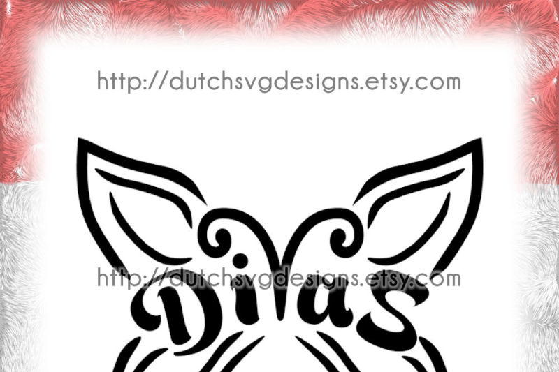 Diva S Butterfly Cutting File With Example In Jpg Png Svg Eps Dxf