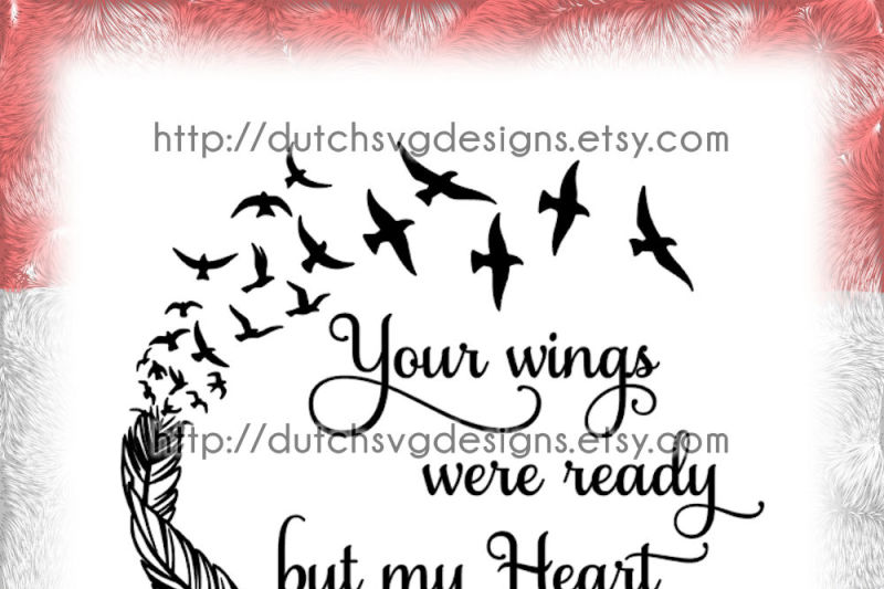 Text Cutting File Your Wings In Jpg Png Svg Eps Dxf For Cricut