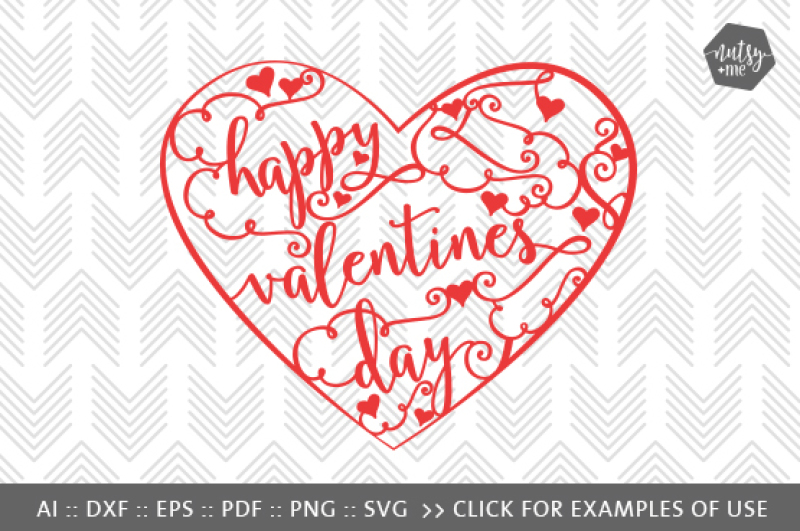 Valentines Day Intricate Heart Svg Png Vector Cut File By