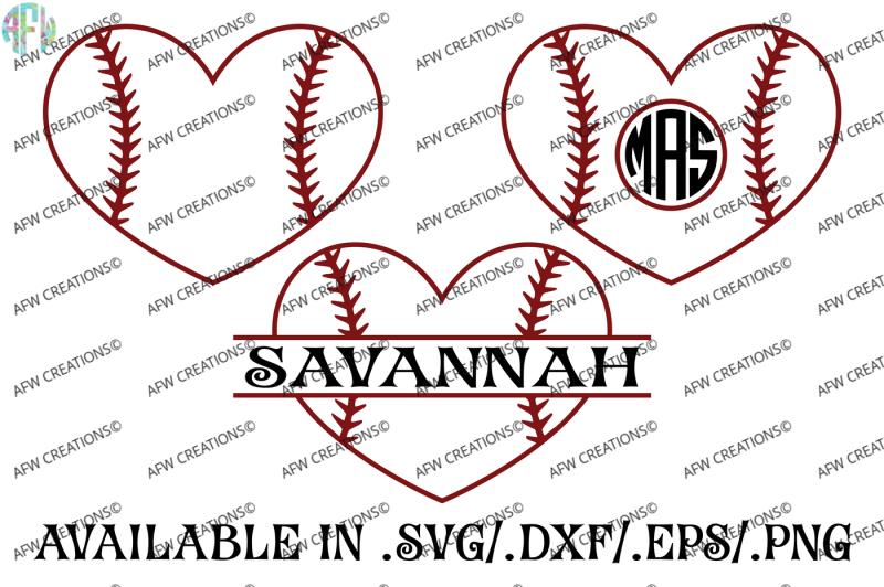 Download Free Baseball Softball Hearts Svg Dxf Eps Digital Cut Files Crafter File