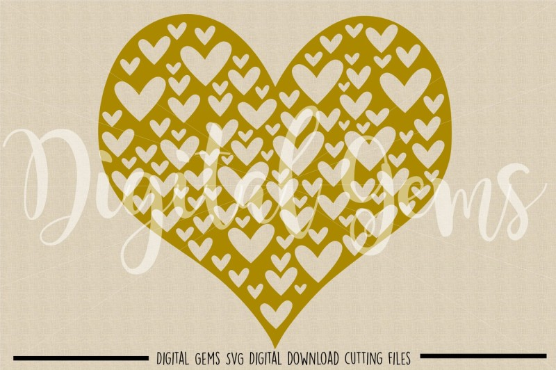 Heart Svg Dxf Eps Png Files By Digital Gems Thehungryjpeg Com