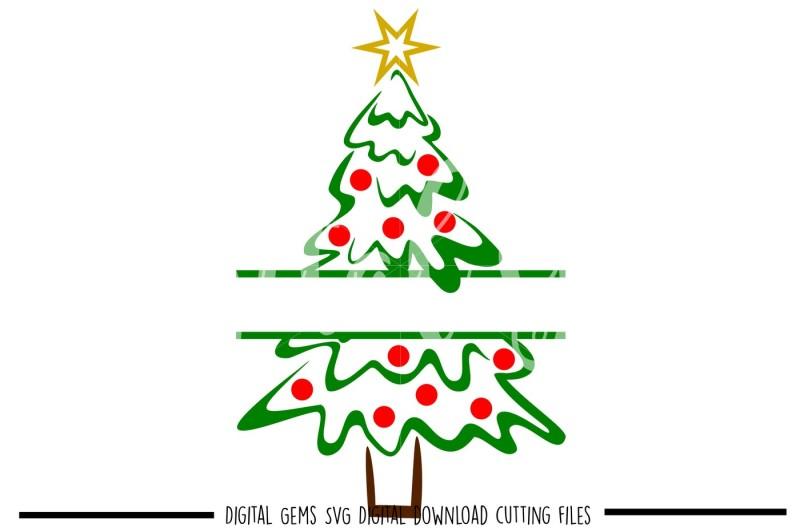 Split Christmas Tree SVG / DXF / EPS