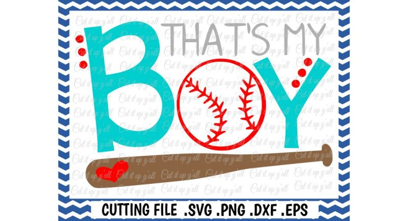 Download Free Baseball Mom Baseball Dad That'S My Boy Svg Png Dxf Eps Cut Files For Cutting Machines Cameo  Cricut & More Crafter File