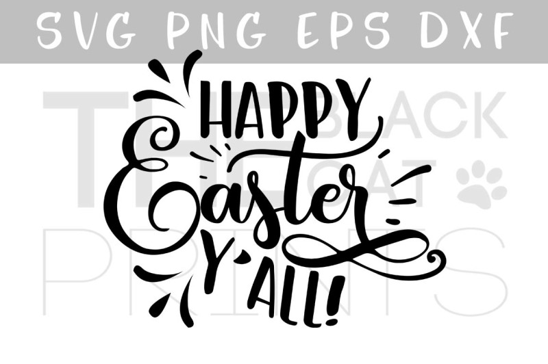Free Happy Easter Y All Cursive Svg Eps Png Dxf Crafter File Free Svg Cut Files Lovesvg