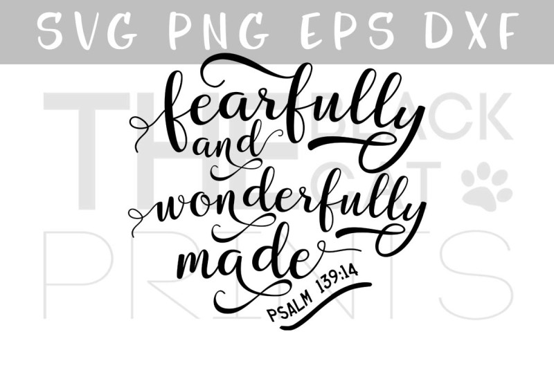 Bible Verse Svg Psalm 139 14 Fearfully And Wonderfully Made Vector