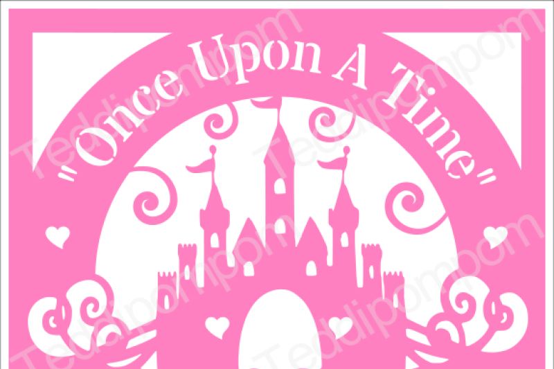 Girls Svg Cutting File Disney Castle Svg Once Upon A Time Cutting